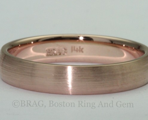 rose gold men's wedding ring