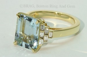 18k Yellow Gold Art Deco Engagement Ring