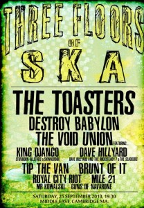 The Toasters Call Boston Home, Perform at TT The Bear's March 1 (3/3)