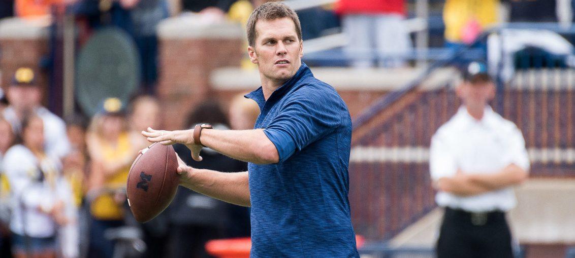 Tom Brady at Michigan, 2016