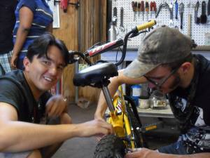 [L]earn-a-bike at the shop. Thanks Jo