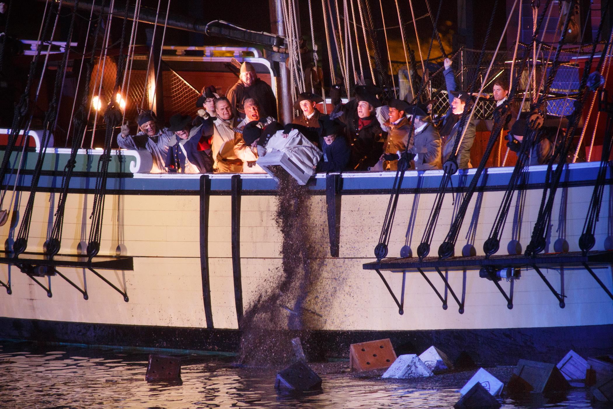 Ships During Boston Tea Party