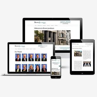 Responsive Web Design for Browb Jacobson Norwhich Connecticut