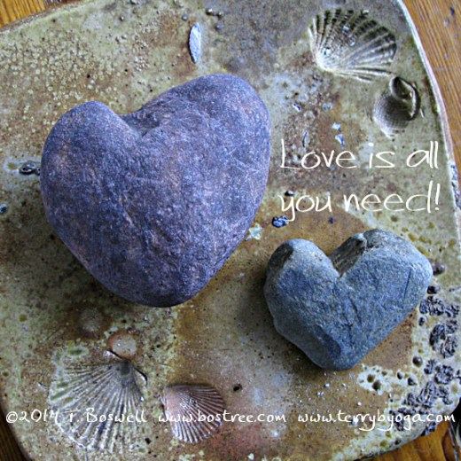 Heart shaped stones