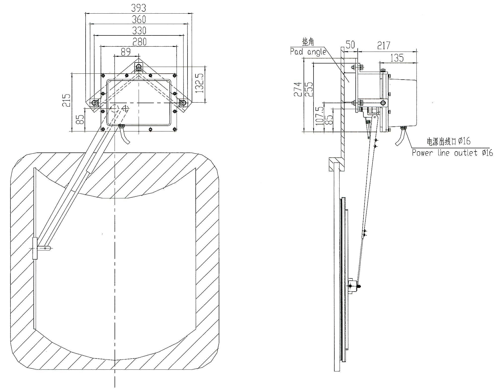 Wgs3 Type Sector Electric Window Wiper Bosunmarine