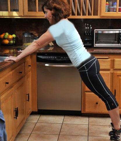 نتيجة بحث الصور عن عمل تمارين التوازن فى المطبخ