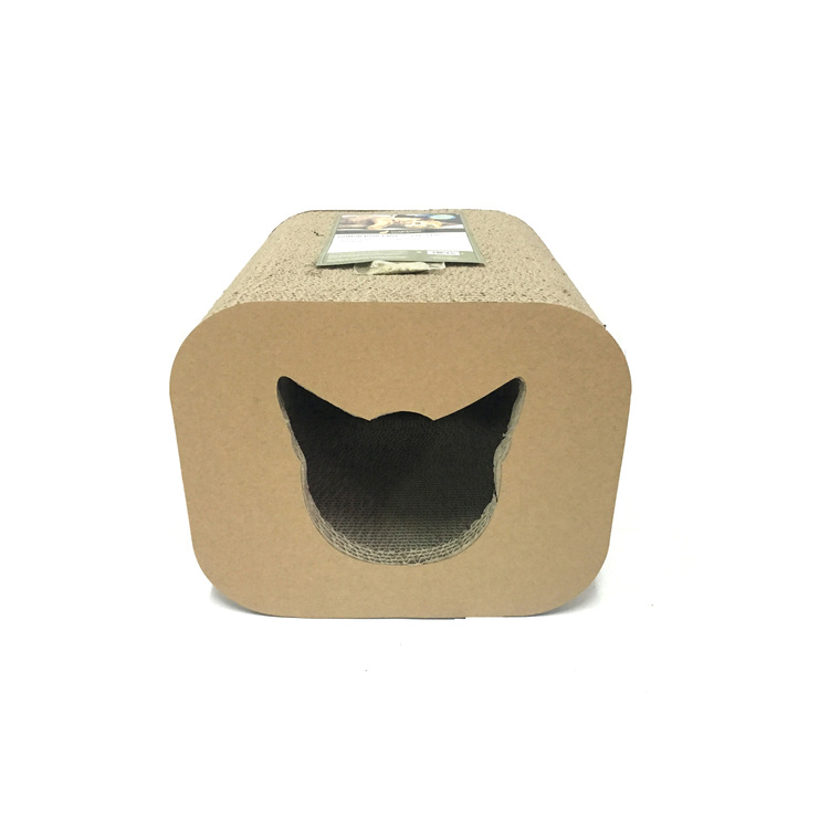 griffoir pour chat scratcher cat head box 30x30x25 cm