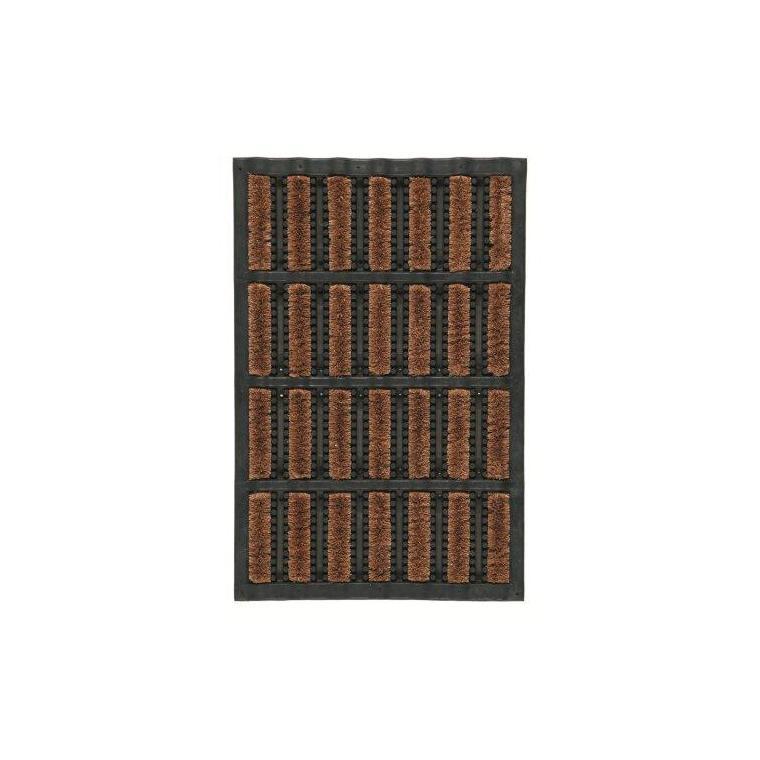 paillasson d exterieur lettonie noir et marron en caoutchouc 60 x 40 cm
