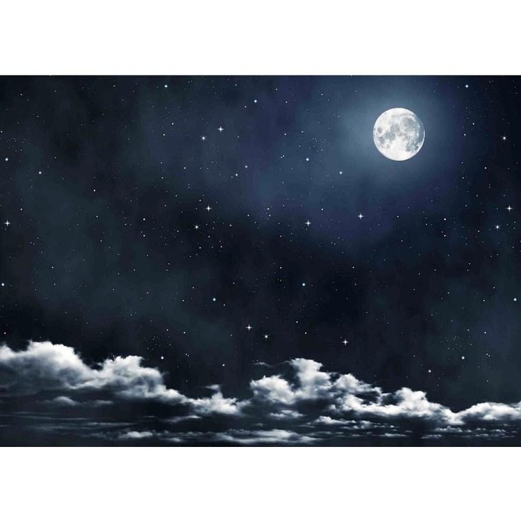 toile de fond ciel avec la lune