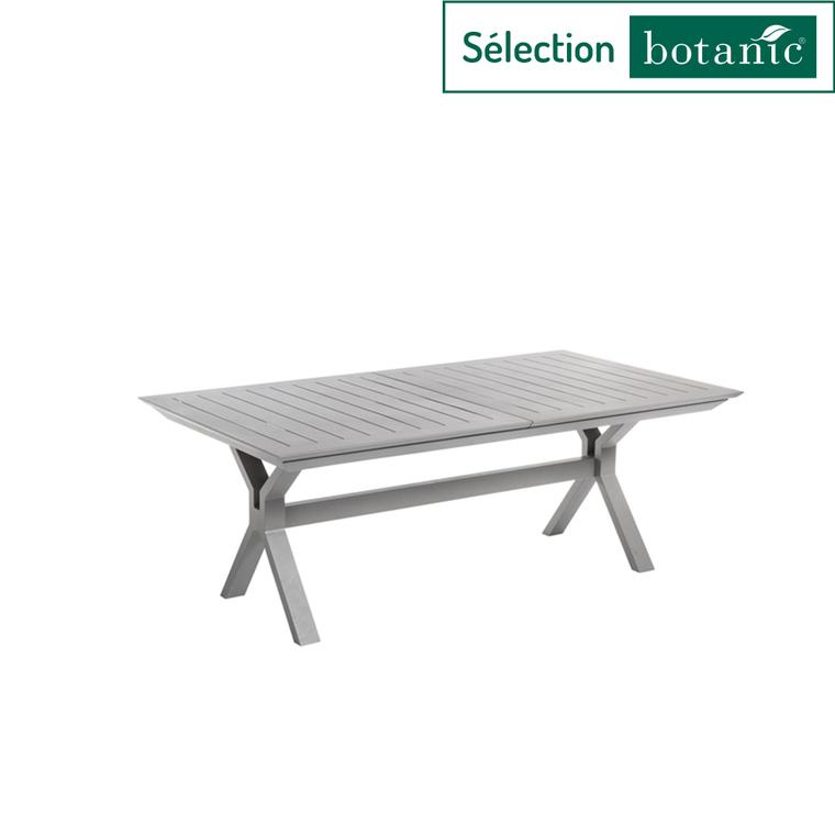 table extensible filao en aluminium beige 160 240 x 100 cm