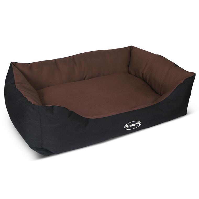corbeille pour chien scruffs expedition chocolat 90x70 cm