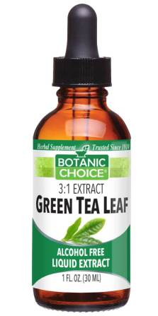 Botanic Choice Green Tea Leaf Liquid Extract - Health Support Supplement - 1 Oz