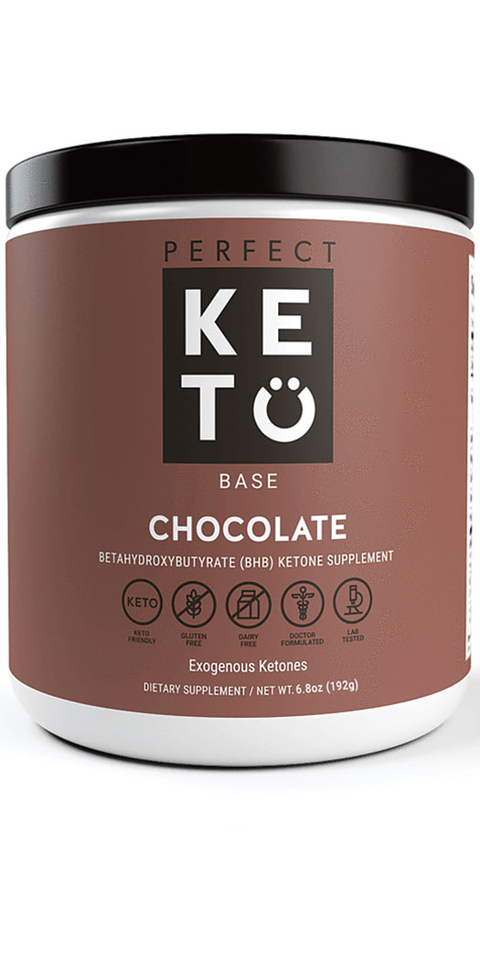 Perfect Keto Exogenous Ketone Base Powder Chocolate - 6.8 Oz