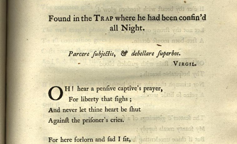 Anna Lætita Barbauld (née Aikin), Poems (1773). From Poems: a hypertext edition, eds. Lisa Vargo & Allison Muri, University of Maryland