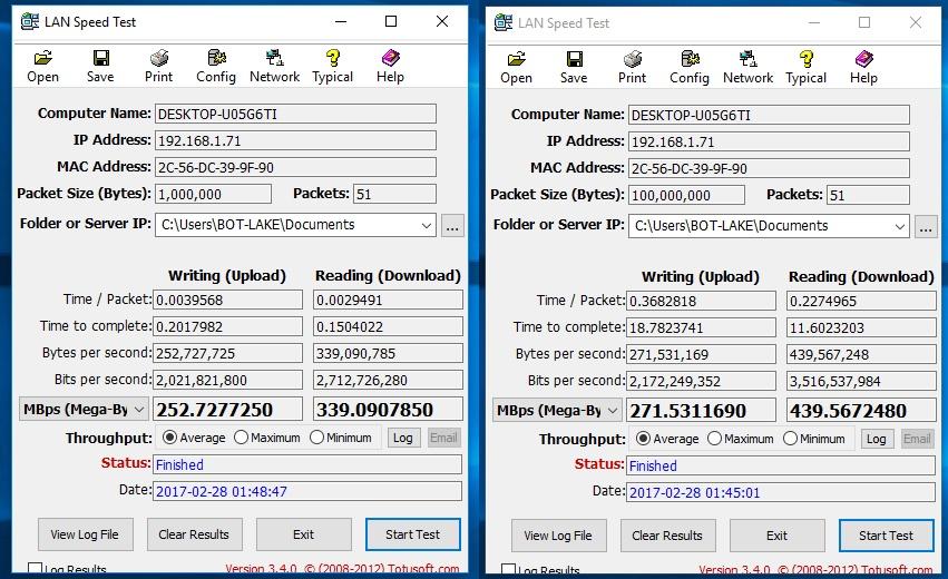 LAN-SpeedTest-I211 | BOTech-News