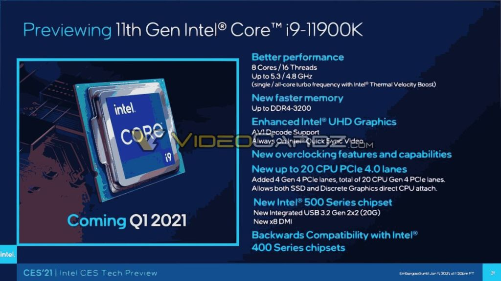 Intel-Core-i9-11900K-Rocket-Lake-S-Especificaciones