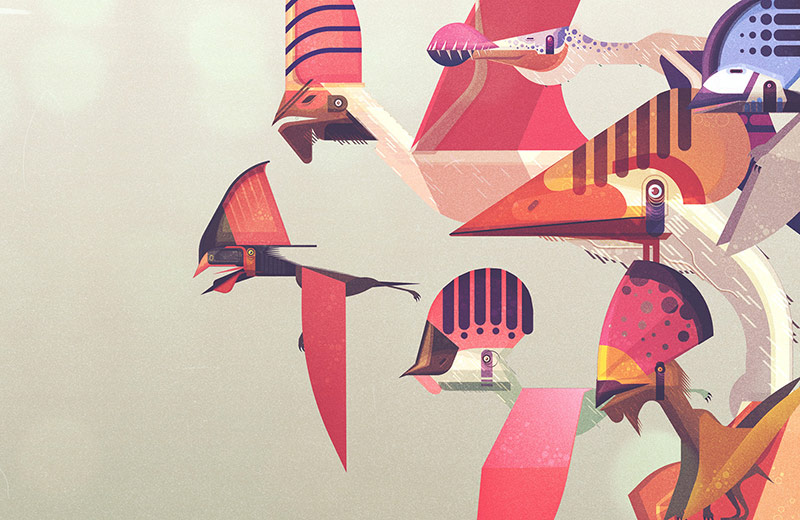 James Gilleard - Lonely Planet - The Dinosaur Atlas - Boteco Design