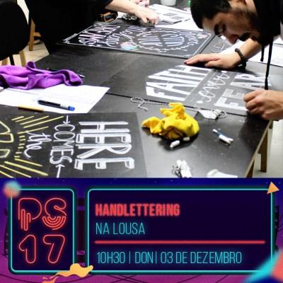 Pixel Show 2017 - workshop: Handlettering - Na Lousa - Boteco Design