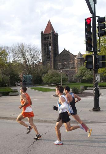 Passing Altgeld Hall During 2011 Illinois Marathon