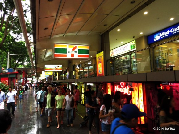 Crowded streets. Orchard Road, Singapore.