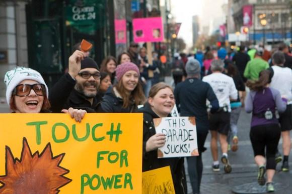 More power! I punched one of those. (c) 2014 GORE-TEX® Philadelphia Marathon