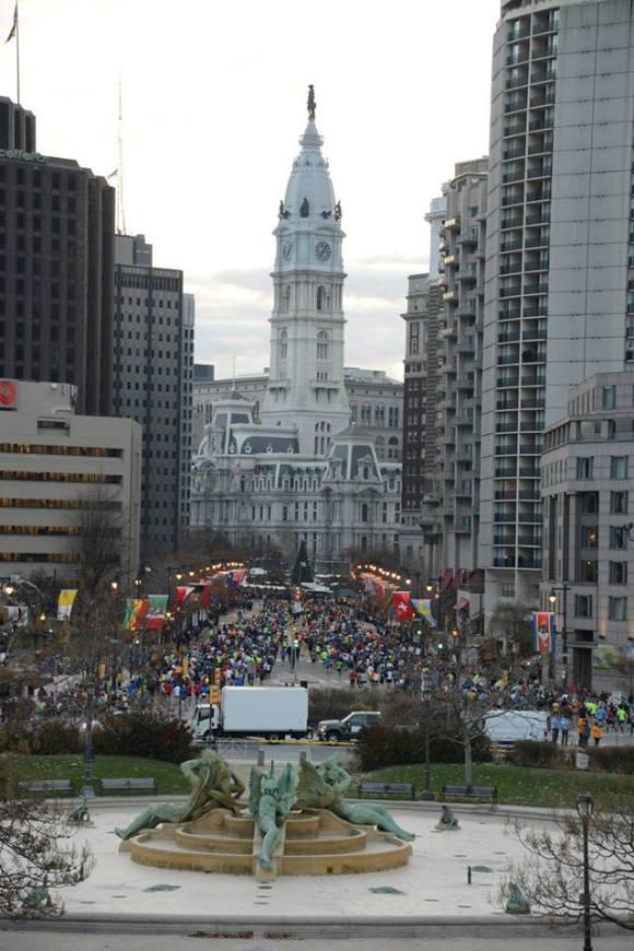 Mile 1.  (c) 2014 GORE-TEX® Philadelphia Marathon