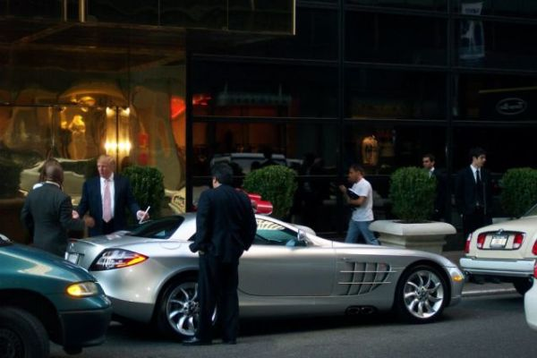 Trump and his Mercedes