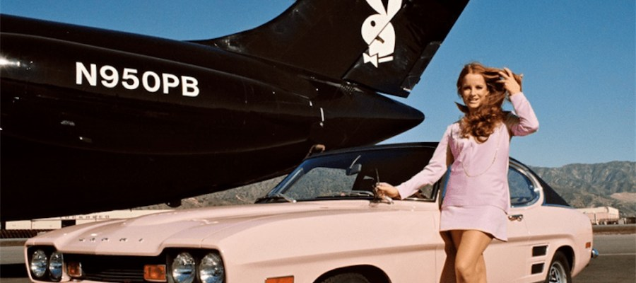 Playboy pink car