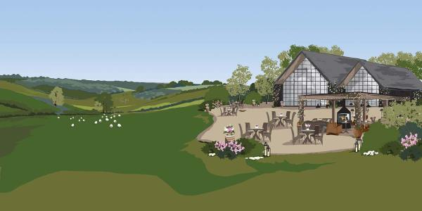 Countryside Barn at Botley Hill Illustration