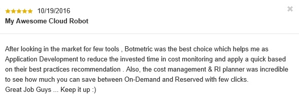 Botmetric Review October 2016
