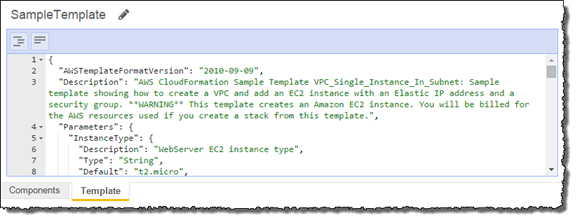 AWS CloudFormation's sample template