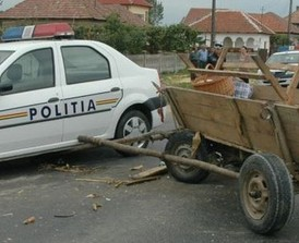 accident caruta politie