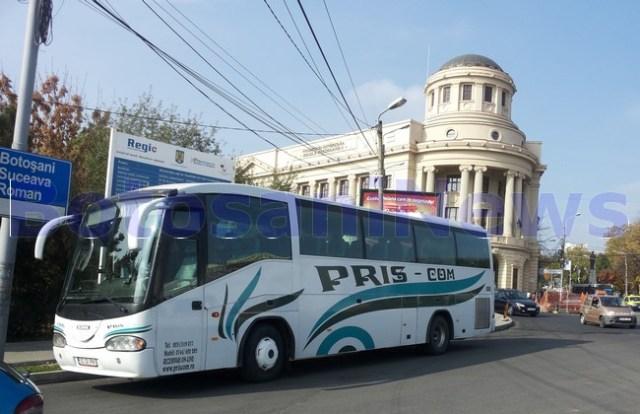 autocar Priscom Botosani cu pelerini transportati la Iasi