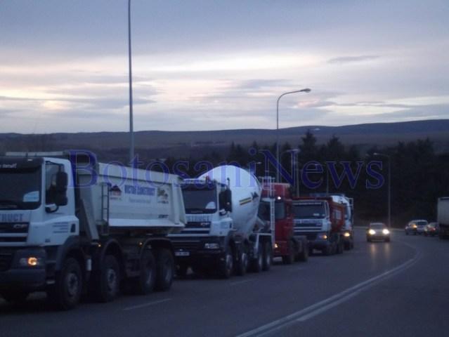 protest transportatori botosani