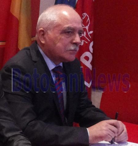 Mihai Balta la conferinta de presa a PSD Botosani