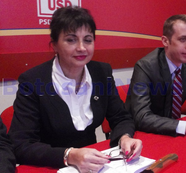 Tamara Ciofu in conferinta de presa- PSD Botosani