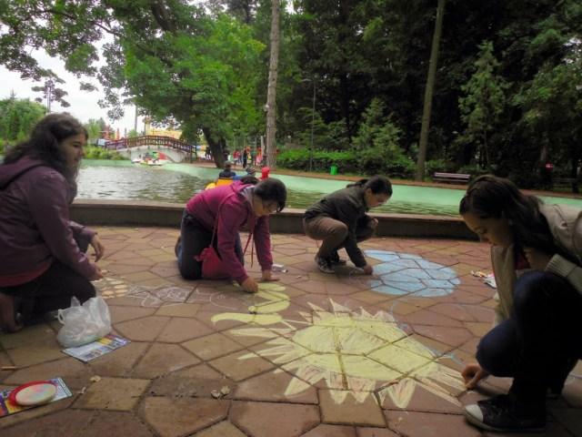 desene copii in Parcul Mihai Eminescu Botosani