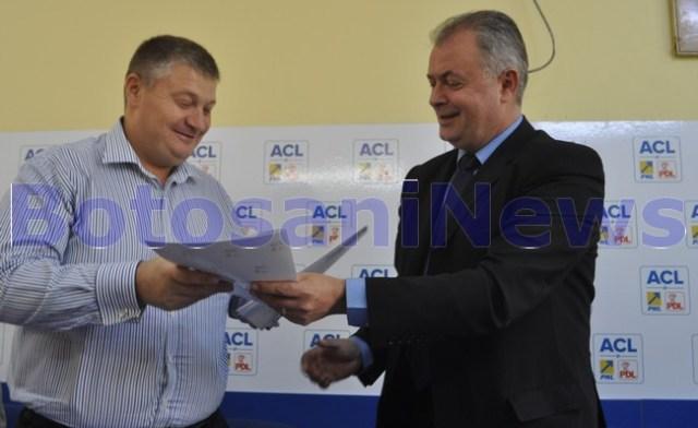 semnarea protocolului de fuziune PNL- PDL Botosani
