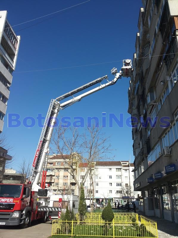 interventie pompieri la Botosani
