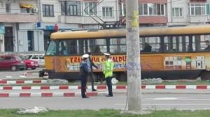 accident tramvai politisti- Botosani