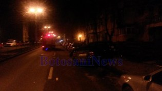 accident pe strada Imparat Traian-municipiul Botosani