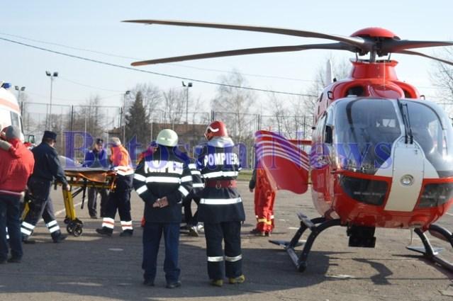 elicopter smurd, stiri, botosani, ambulanta,