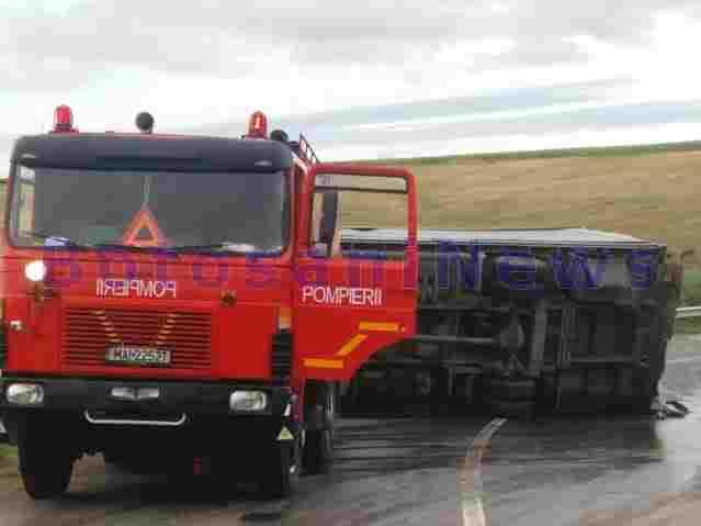 camion rasturnat masina de pompieri