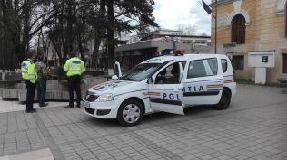 ziua politiei- expozitie pe Pietonalul Unirii - Botosani
