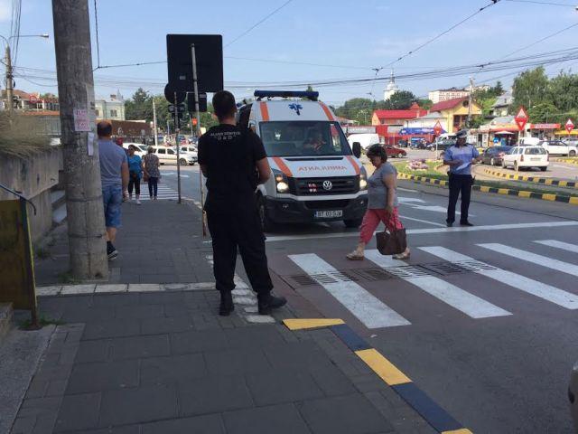 accident trecere de pietoni strada Ion Pillat botosani