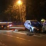 accident cu taxi rasturnat pe Calea Nationala -Botosani