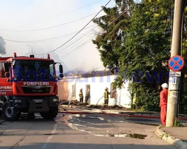 incendiu casa strada Puskin Botosani