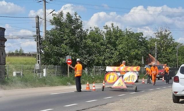 lucrari drumuri- montare sensori in asfalt- botosani