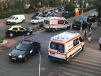 accident cu autoturism tip Scoala la Dorohoi- Botosani