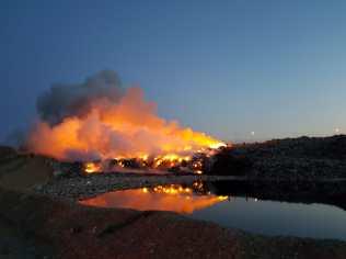 incendiu la groapa de gunoi de la Stauceni- Botosani